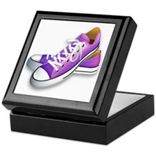 purple sneakers Keepsake Box