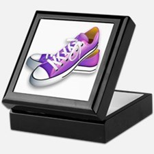 purple sneakers Keepsake Box