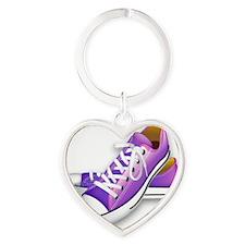 purple sneakers Heart Keychain