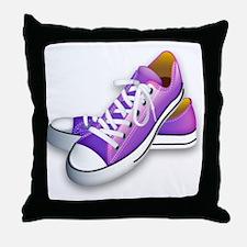 purple sneakers Throw Pillow