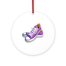 purple sneakers Round Ornament