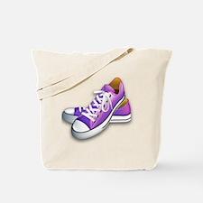 purple sneakers Tote Bag