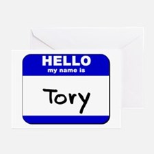 hello my name is tory  Greeting Cards (Package of