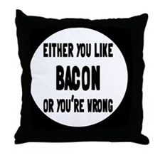 baconbutton Throw Pillow