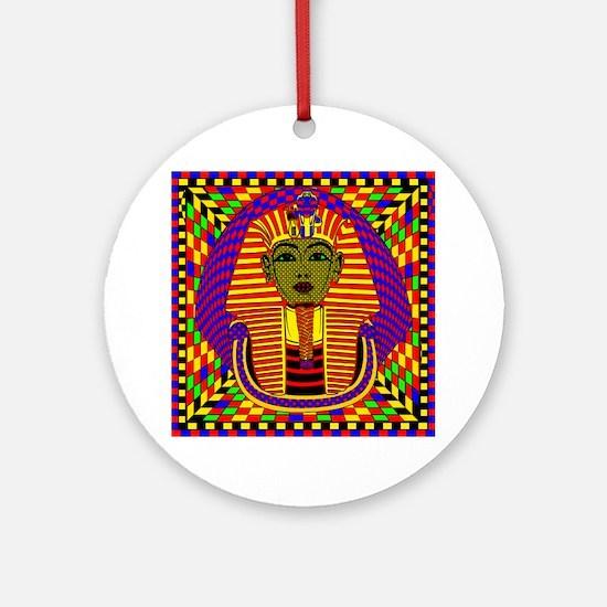 King Tut Pop Art Round Ornament