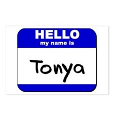 hello my name is tonya  Postcards (Package of 8)