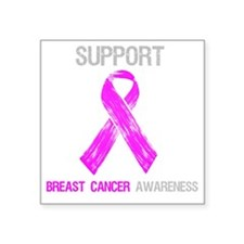 """Breast Cancer Support Shirt Square Sticker 3"""" x 3"""""""