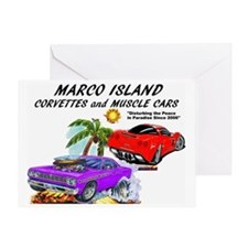 marco island corvettes and muscle ca Greeting Card
