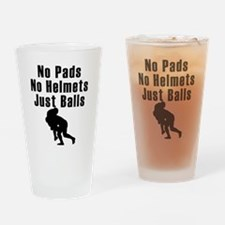 Just Balls Rugby Drinking Glass