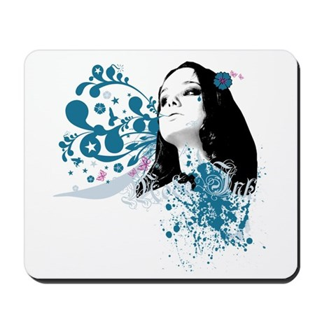 Pinup Stars Flowers Mousepad