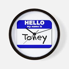 hello my name is toney  Wall Clock