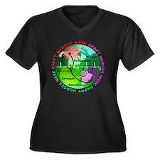 happy nurses Women's Plus Size Dark V-Neck T-Shirt