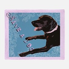 Save A Dog Throw Blanket