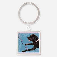 Save A Dog Square Keychain