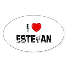 I * Estevan Oval Decal