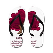 The Purple Beech Tree Flip Flops