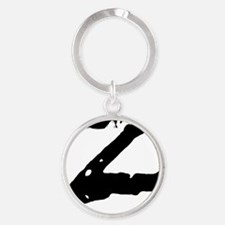 Z Shirt Round Keychain