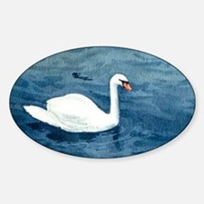 Swan on the Lake Sticker (Oval)