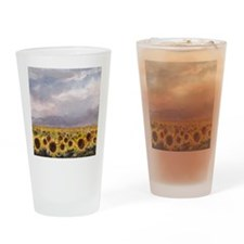 Field of Sunflowers Drinking Glass
