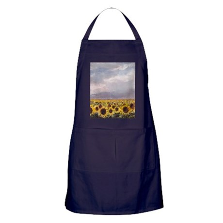 Field of Sunflowers Apron (dark)