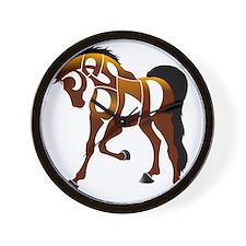 jasper brown horse Wall Clock