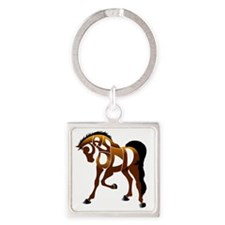 jasper brown horse Square Keychain