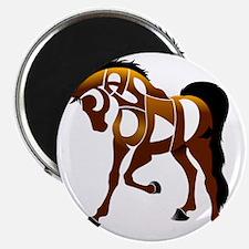 jasper brown horse Magnet