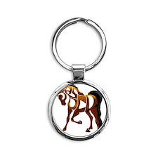 jasper brown horse Round Keychain
