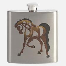 jasper brown horse Flask