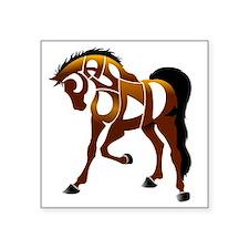 "jasper brown horse Square Sticker 3"" x 3"""