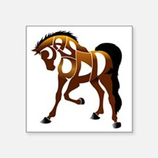 "jasper brown horse Square Sticker 3"" x 3"""