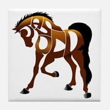 jasper brown horse Tile Coaster