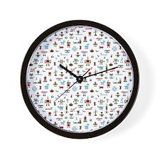 Kids All Over Print T-Shirt-Robots-RGB Wall Clock