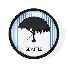 Seattle City Logo Wall Clock