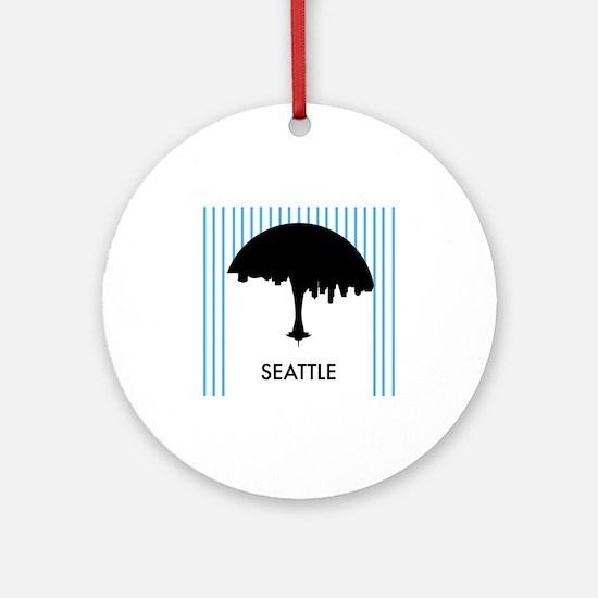 Seattle City Logo Round Ornament