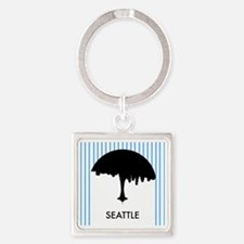 Seattle City Logo Square Keychain