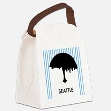 Seattle City Logo Canvas Lunch Bag