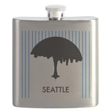 Seattle City Logo Flask