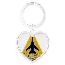 F-111F Aardvark - 493rd TFS Heart Keychain