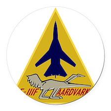 F-111F Aardvark - 493rd TFS Round Car Magnet