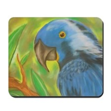 Blue Parrot Mousepad