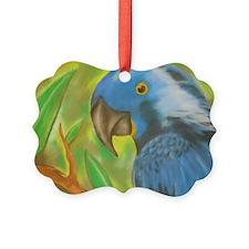 Blue Parrot Ornament