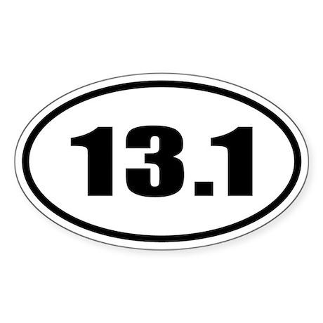 13.1 Half Marathon Runner Oval Sticker