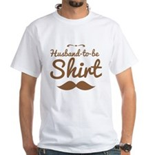 Husband to be shirt with moustache mustache T-Shir