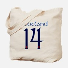 Scotland style large number 14 Tote Bag