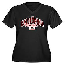 Cali Hockey Women's Plus Size V-Neck Dark T-Shirt