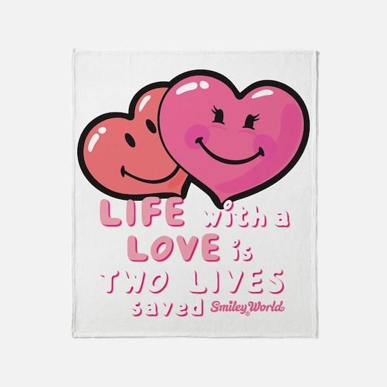 love hearts Throw Blanket