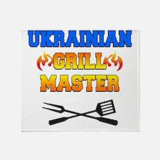 Ukrainian Grill Master Throw Blanket