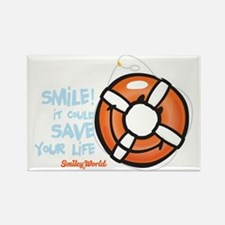 life ring smiley Rectangle Magnet