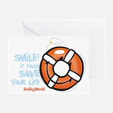 life ring smiley Greeting Card